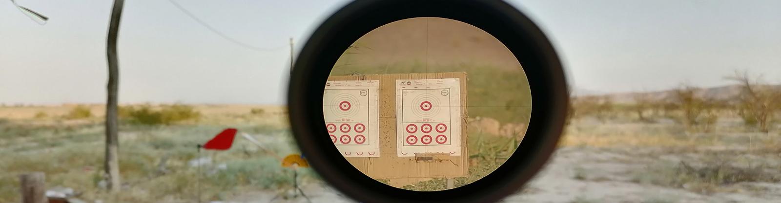 تصاویر دید دوربین های تفنگ در زوم ها و مسافت های مختلف