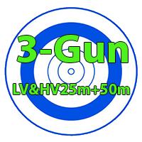 رکورد های مجموع سه کلاس ۲۵متر (LV-HV-50m)