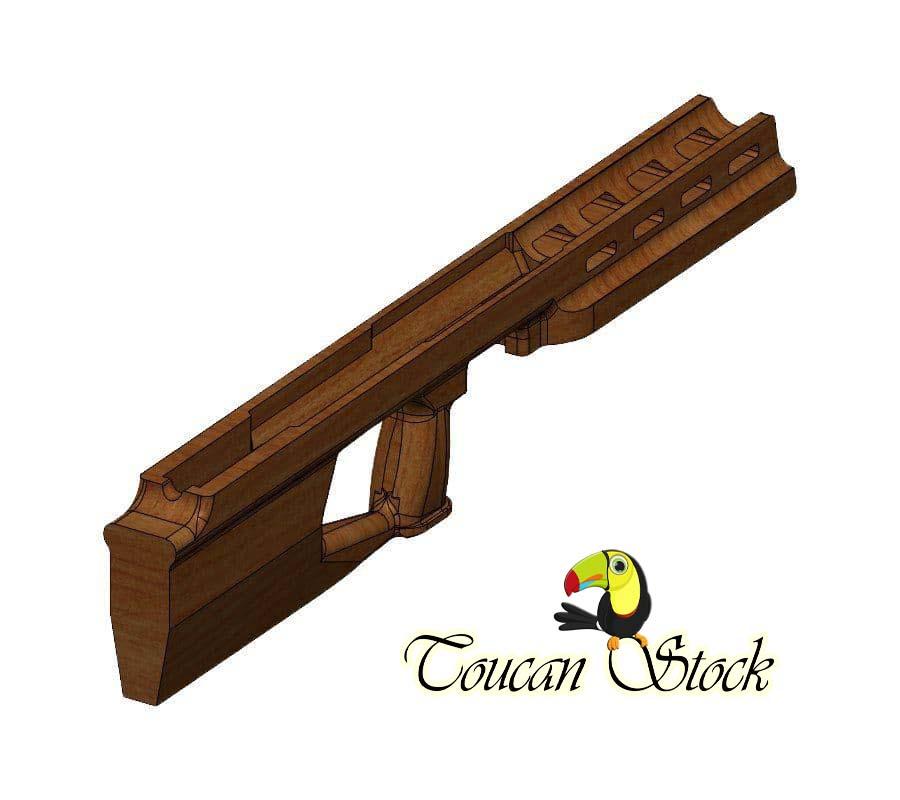 قنداق تفنگ بادی کریکت – ساخت توکان استوک